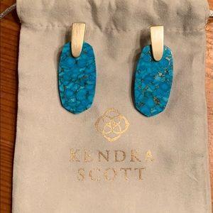 Kendra Scott Aragon veined turquoise earrings